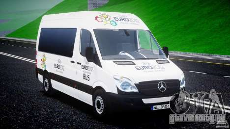 Mercedes-Benz Sprinter Euro 2012 для GTA 4 вид сзади