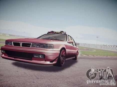 Mitsubishi Galant 1992 JDM для GTA San Andreas вид сзади слева