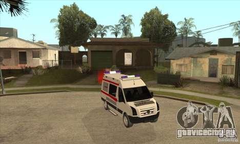 Volkswagen Crafter Ambulance для GTA San Andreas вид сзади