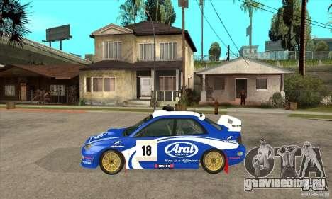 Subaru Impreza STi WRC wht1 для GTA San Andreas вид сзади слева
