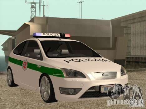 Ford Focus ST Policija для GTA San Andreas вид изнутри