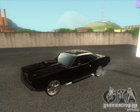 Plymouth Barracuda для GTA San Andreas вид слева