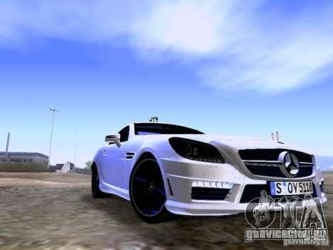 Mercedes-Benz SLK55 AMG 2012 для GTA San Andreas вид сзади слева
