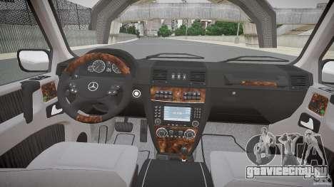 Mercedes Benz G500 (W463) 2008 для GTA 4 вид сзади