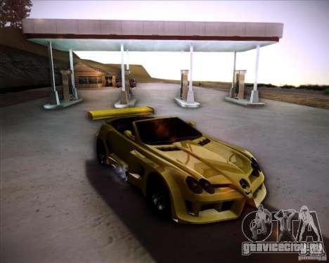 Mercedes-Benz SLR-Mclaren 722 Cabrio Tuned для GTA San Andreas вид сзади слева