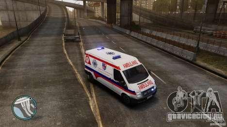 Ford Transit Ambulance для GTA 4 вид слева