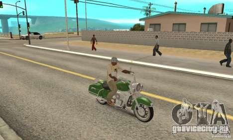 Harley Davidson Road King для GTA San Andreas вид справа