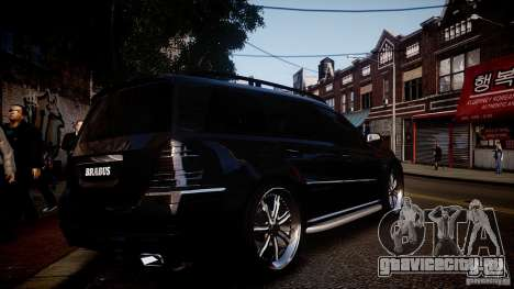 Mercedes-Benz GL450 Brabus Black Edition для GTA 4 вид справа