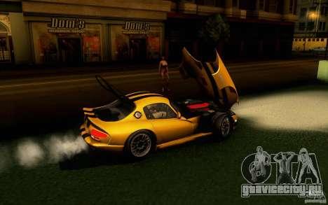 Dodge Viper GTS Coupe TT Black Revel для GTA San Andreas вид сзади слева