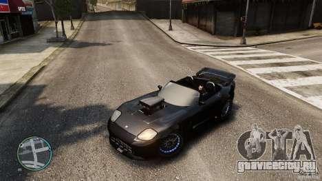 Blue Neon Banshee для GTA 4 вид сзади