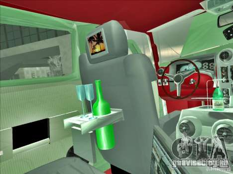 Hummer H2 Phantom для GTA San Andreas вид снизу