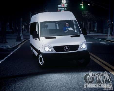Mercedes-Benz Sprinter Long для GTA 4 вид сверху
