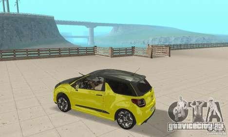 Citroen Ds3 Sport 2011 для GTA San Andreas вид справа