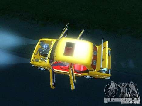 ВАЗ 2106 SPARKO для GTA San Andreas вид изнутри
