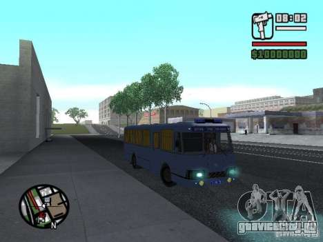 ЛиАЗ 677Ш для GTA San Andreas вид сзади слева