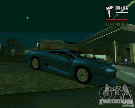 Jaguar JXJ 220 для GTA San Andreas вид слева