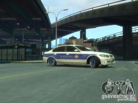 BMW 320i Police для GTA 4 вид слева