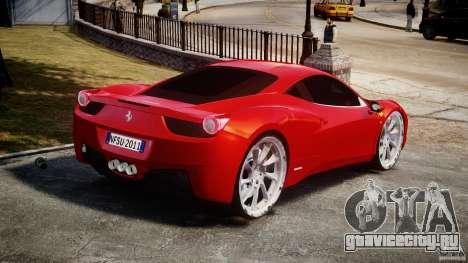 Ferrari 458 Italia Dub Edition для GTA 4 вид сзади слева