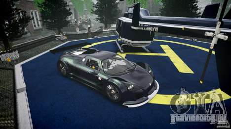 Gumpert Apollo Sport v1 2010 для GTA 4 вид изнутри