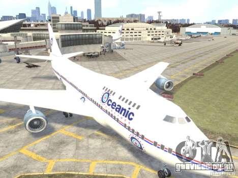 Oceanic Airlines для GTA 4 вид слева
