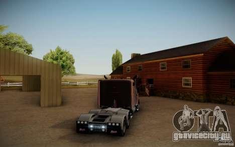 Mack Pinnacle Rawhide Edition для GTA San Andreas вид сзади слева