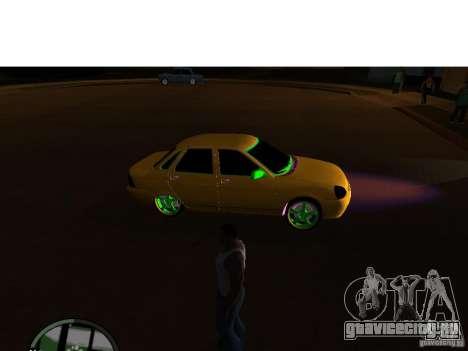 ВАЗ 2174 Priora Crazy Taxi для GTA San Andreas вид сзади слева