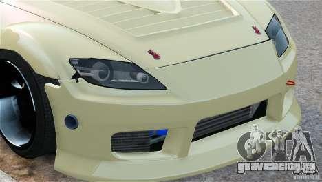 Mazda RX-8 Mad Mike для GTA 4 вид изнутри