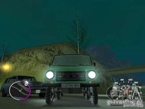 ЛуАЗ 969М для GTA San Andreas вид сзади слева