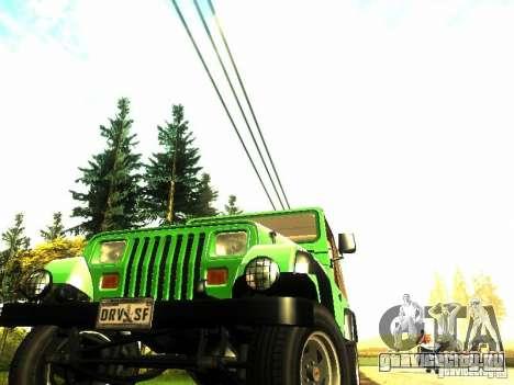 Jeep Wrangler Convertible для GTA San Andreas вид справа