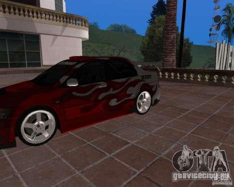 Mitsubishi Lancer Evolution VIII для GTA San Andreas вид сзади