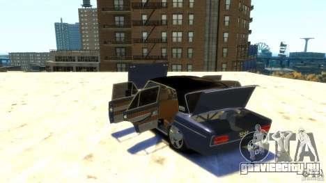 VAZ 2103 Street Tuning для GTA 4 вид сверху
