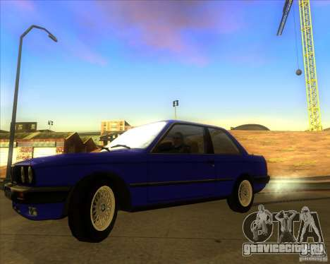 BMW E30 323i для GTA San Andreas вид сзади слева