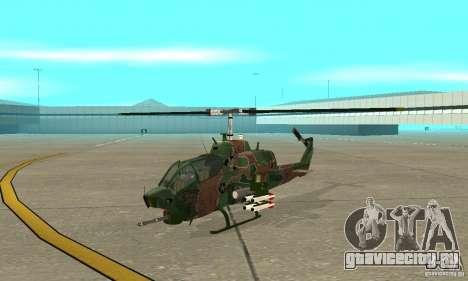 AH-1 super cobra для GTA San Andreas вид слева