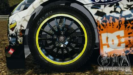 Ford Fiesta RS WRC Gymkhana v1.0 для GTA 4 вид сзади