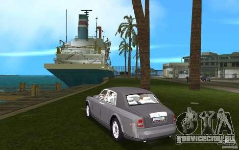 Rolls Royce Phantom для GTA Vice City вид сзади слева
