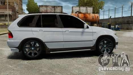 BMW X5 4.8IS BAKU для GTA 4 вид слева