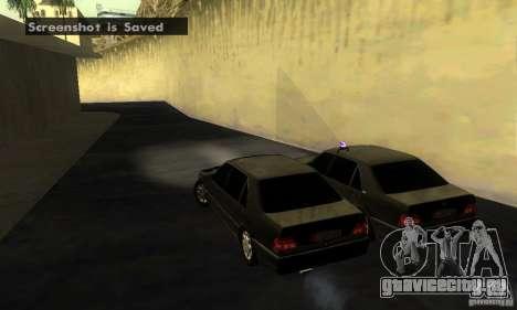 Mercedes-Benz W140 S600 Long Deputat Style для GTA San Andreas вид сзади слева