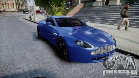Aston Martin V8 Vantage V1.0 для GTA 4 вид сзади