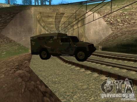 Hummer H2 Army для GTA San Andreas вид сбоку