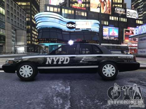 Ford Crown Victoria NYPD Auxiliary для GTA 4 вид сзади