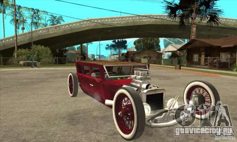 HotRod sedan 1920s для GTA San Andreas вид сзади