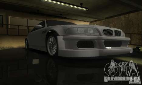 BMW M3 Tuneable для GTA San Andreas вид изнутри