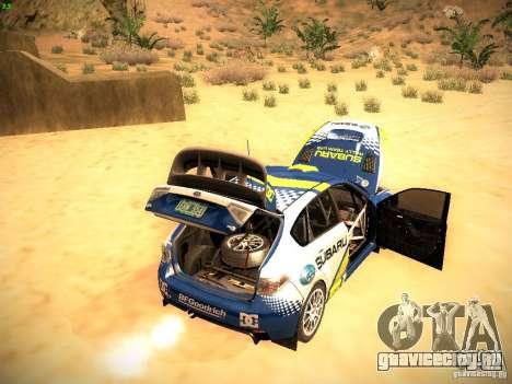 Subaru impreza Tarmac Rally для GTA San Andreas вид сверху