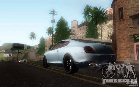 Bentley Continental SS для GTA San Andreas вид изнутри