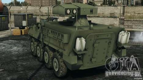 Stryker M1134 ATGM v1.0 для GTA 4 вид сзади слева