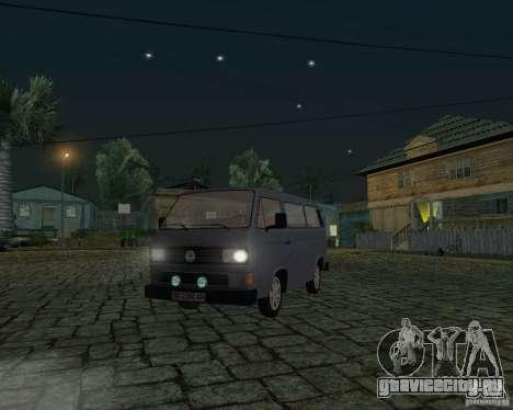 Volkswagen Transporter T3 для GTA San Andreas вид изнутри