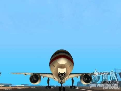 Boeing 777-200 American Airlines для GTA San Andreas вид сбоку