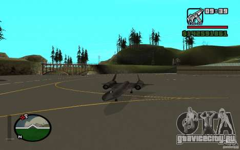 SR-71 Blackbird для GTA San Andreas вид справа