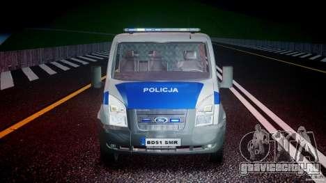 Ford Transit Polish Police [ELS] для GTA 4 вид сбоку