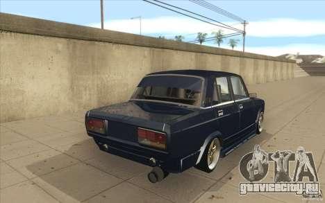 ВАЗ-2107 Lada Street Drift Tuned для GTA San Andreas вид сбоку